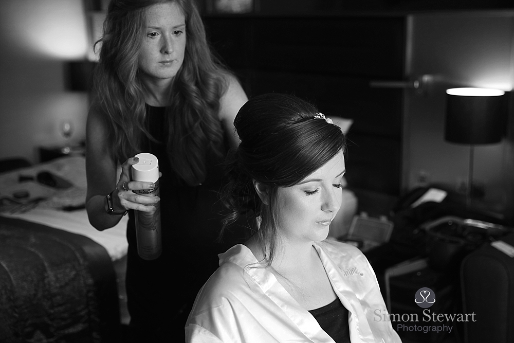 Bride getting ready at the felbridge hotel