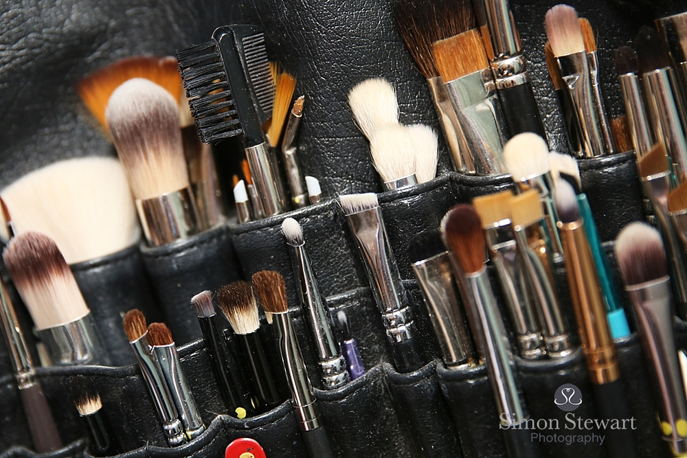 Makeup brushes at the Felbridge Hotel