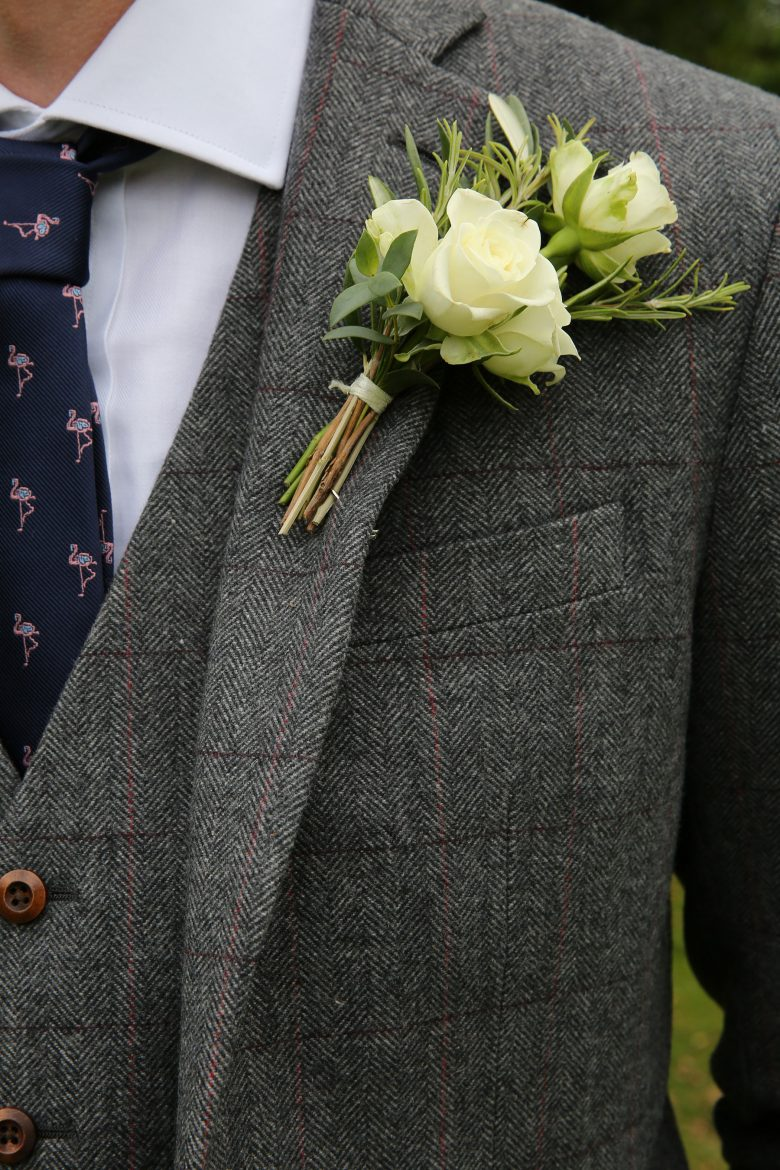 grooms button hole at Alexander House Hotel